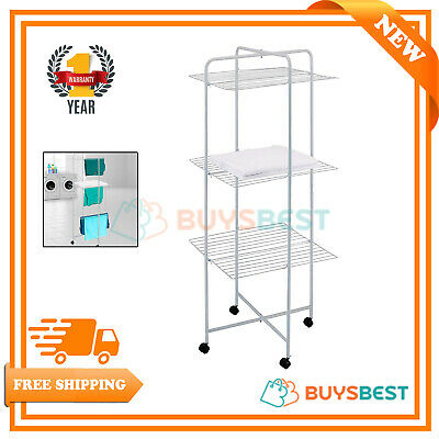 OurHouse 3 Tier Clothes Horse Dryer Airer On Wheels - SR20016