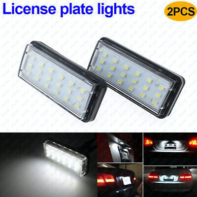 2Pcs LED License Plate Light Fits For Toyota Land Cruiser Prado Lexus GX LX470