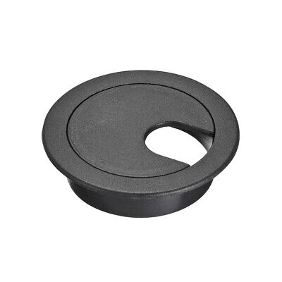 "Cable Hole Cover, 1-3/8"" Plastic Desk Grommet for Wire Organizer, 30 Pcs (Black)"
