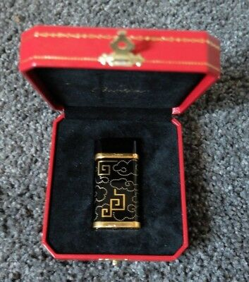 Cartier Paris Limited edition Black Lacquer with gold lighter