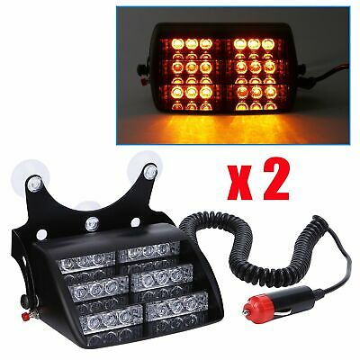 KIT 2 FEUX DE PENETRATION STROBOSCOPE PACECAR LED BLANC