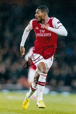 AINSLEY MAITLAND NILES ARSENAL HAND SIGNED PHOTO AUTHENTIC + COA - 12x8