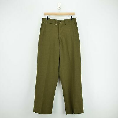 Vintage 50s Korean War US Army Wool Field Trousers 30 W 31 L