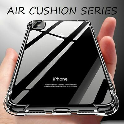 For iPhone Case 8 7 6 Plus XS Max XR Bumper Shockproof Silicone Protective Cover