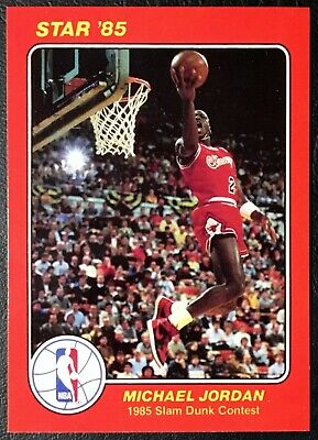best service bf42d afa31 1985 Star  5 Michael Jordan Slam Dunk Contest Reprint - Mint - Chicago Bulls