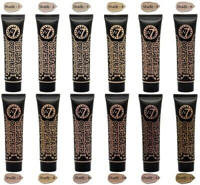W7 Cosmetics Ultimate Cover Up Full Cover Face & Body Foundation Make Up Shades