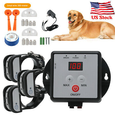 LED Electronic In-Ground Pet Fence Dog Training Collar Fence Containment System