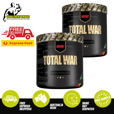 2 X REDCON1 TOTAL WAR PRE WORKOUT HIGH STIM Redcon 1 Twin Pack 30 SERVES