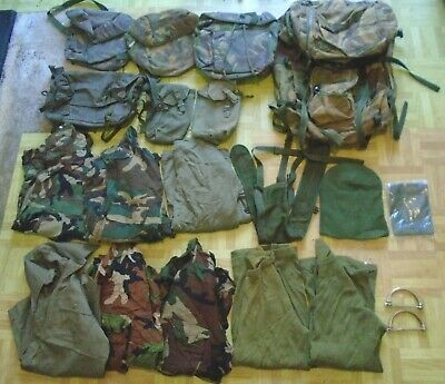 Job Lot British European Army Surplus Rucksack, Clothing, Haversacks x 20 Items
