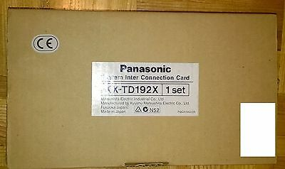 Panasonic KX-TD192 KX-TD192 X System Interconnection Kit 4 TD1232 KX-TD1232