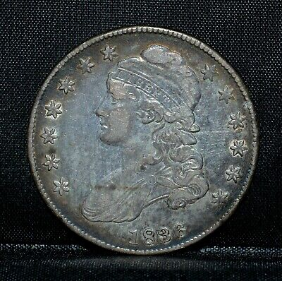 1836 Capped Bust Half Dollar ✪ Xf Extra Fine ✪ 50C Silver Lettered Edge◢Trusted◣