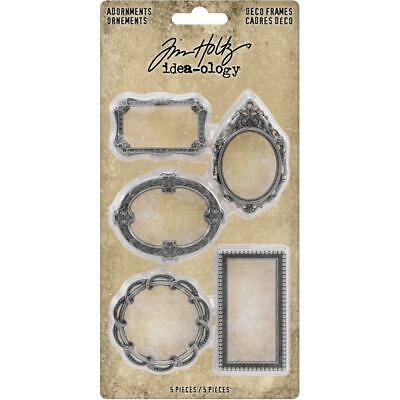 Tim Holtz Idea-Ology - Adornments Deco Frames - 5 Pieces