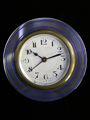 Antique Sterling Silver, Art Deco Travel Clock
