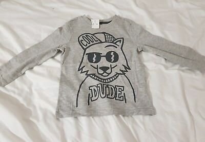 F&F Boys Cool Dude Long Sleeve Top T-Shirt 3-4 Years