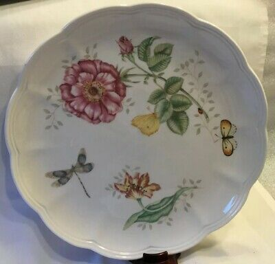 "New Lenox Butterfly Meadow 10 5/8"" Scalloped Edge Dinner Plate ""Dragonfly"""