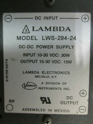 2 Modules Lws-294-24 Dc-Power Supply