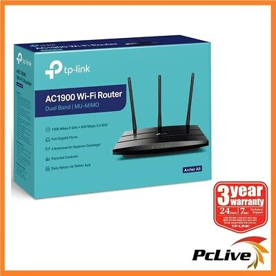 TP-Link Archer A9 AC1900 Dual Band 1900Mbps Wireless Gigabit Router MU-MIMO WIFI
