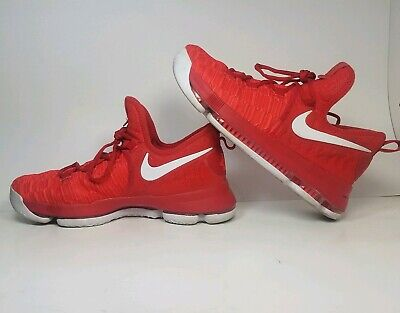 newest 3b570 e99e8 NIKE Zoom KD9 Boys Girls Youth 6.5Y GS 855908-611 Red Basketball Shoes  Durant