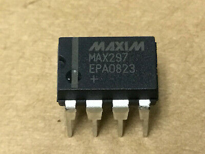 (1 PC)  MAXIM   MAX297EPA   Active Filter Single SW-CAP Low Pass 8th Order 50kHz