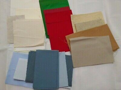 Mixed lot 17 Aida cloth various colors and sizes some cut others stash builder