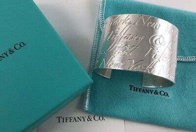 cfa5b411e6993 TIFFANY & CO. Notes Wide Cuff Bracelet Sterling Silver With Dust Bag!!!
