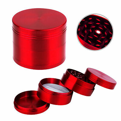Red Large 4 Layers Metal Tobacco Crusher Hand Muller  Herbal Herb Grinder