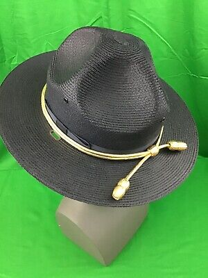 314313c7 NEW Stratton Navy Campaign Straw Police Sheriff Trooper Double Brim Hat 6  5/8