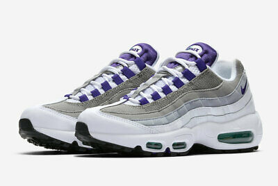 636427bda0574e WMNS 2018 Nike Air Max 95 SZ 7.5 White Purple Emerald Green 307960-109