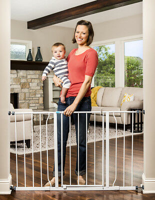 "Baby Safety Gate Regalo Extra Wide Walk Through Fits 50"" Opening Pressure Mount"