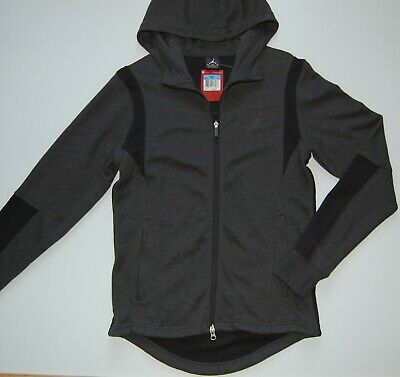 bf90c393e68 Nike Air Jordan Jumpman Men's Full Zip Hooded Jacket, Gray Black, NWT $120