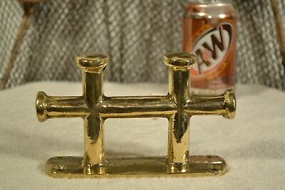Rustic Brass Bollard Cleat 6 1/2""