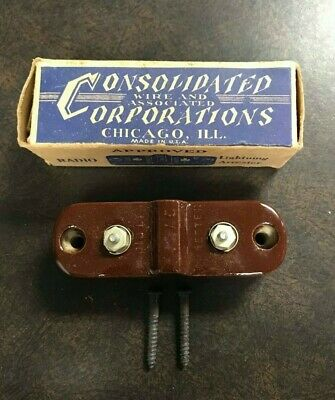 Consolidated Wire Corporations Radio Lightning Arrester Original Box