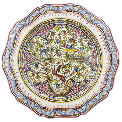 Coimbra Ceramics Hand-painted Decorative Hanging Plate XVII Cent Recreation #171