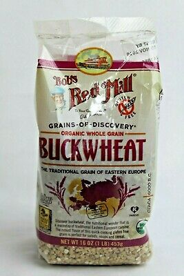 Organic Whole Grain Buckwheat Bob's Red Mill Gluten Free USDA 1 lbs Sealed