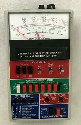 ECOs POW-R-MATE Model 1023 Volt Current Phase Wiring Meter