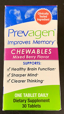 Prevagen Improves Memory Chewables Mixed Berry Flavor 30 tablets #1157