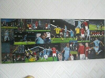 Man City MCFC Oil Painting Compilation Vincent Kompany`s goal v Man United 2012