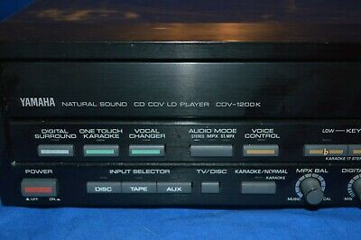 Yamaha CDV-1200K Natural Sound CD CDV LD Laser Disc Video Karaoke Player