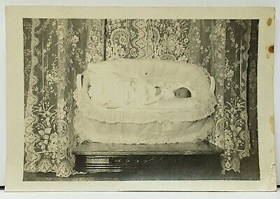 Vintage / Antique Post Mortem Photo of Deceased Baby Infant Early 1900's