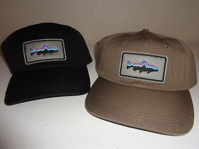 008a2d3a6 PATAGONIA FITZ ROY Trout Stretch Trucker Tan Ash Fitted Cap Hat ...