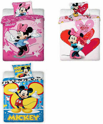 Luxury Baby Bedding Set Single Kid Duvet Covers Quilt Disney Mickey Minnie Mouse