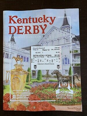 2019 Kentucky Derby Program and $2.00 Win Ticket On Maximum Security #7