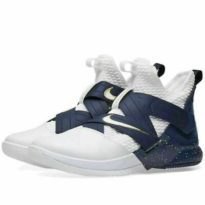 64f5fe356600 Nike Lebron Soldier Xii 12 Sfg White Midnight Navy Ao4054 100 Size 11 Brand  New