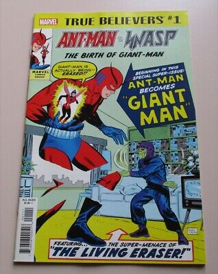 True Believers - Ant Man & the Wasp #1 - Reprint Tales to Astonish #35 & 49- NM