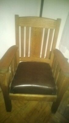 Arts and Crafts Mission Style Arm Chair