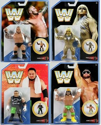 WWE Mattel COMPLETE SET Retro Figure Series 9 Macho Man/Goldust/Samoa Joe/Orton