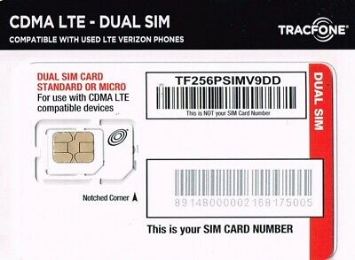 TRACFONE KEEP YOUR Own Phone 3-in-1 Prepaid SIM Card Kit