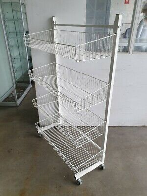 CHEAP 900mm Wire Four Tier Basket Stand For Shop Retail Brand New Black CHEAP