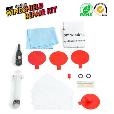 Windscreen Windshield Repair Tool DIY Car Kit Wind Glass For Chip & Crack FIXED