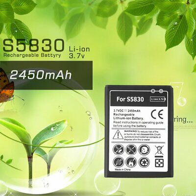 2450mAh Black Li-ion Rechargeable Replacement Battery for Samsung S5830 OI